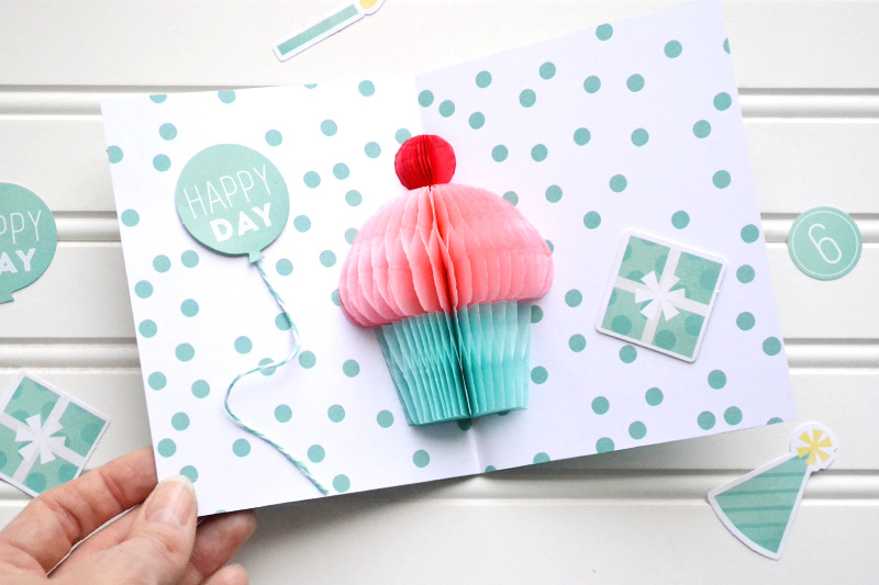 Aly Dosdall Pop Up Cupcake Birthday Card Video Tutorial