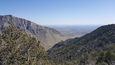 A view from the Guadalupe Mountain Peak trail at 7700 feet.
