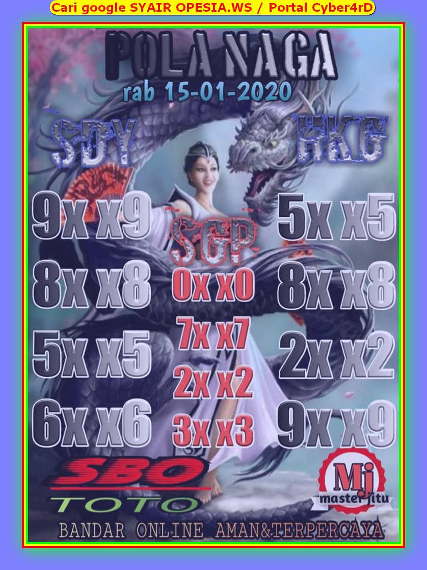 Kode syair Singapore Rabu 15 Januari 2020 43