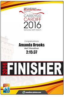 Finishing the Cardiff Half Marathon