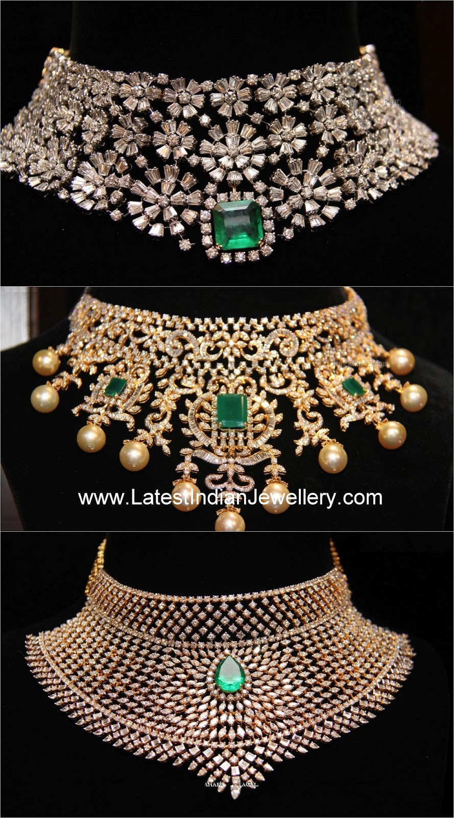 Heavy Diamond Choker Designs Latest Indian Jewellery Designs