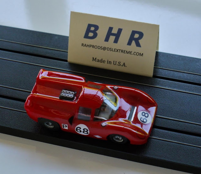 BHR Lola T70 Mk. III Coupe CONCOURS RTR Body; HO 1/64, Red/Clear