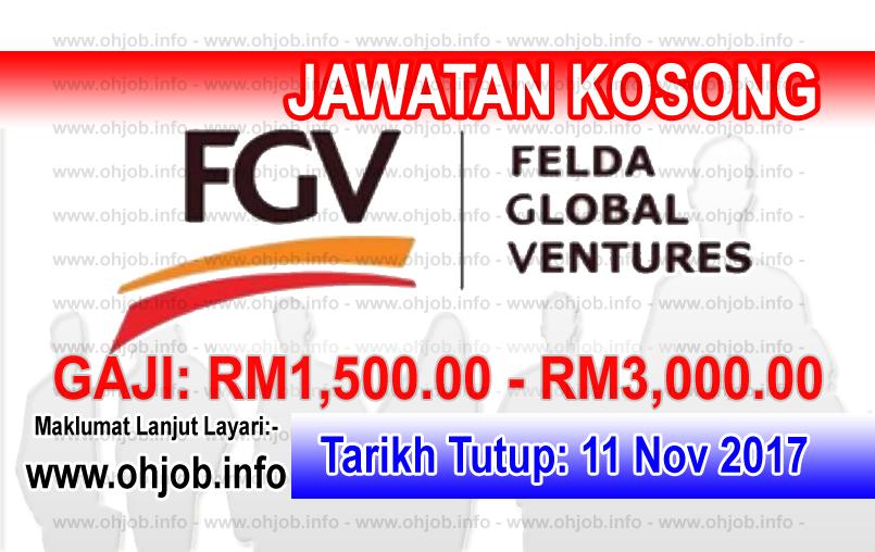 Jawatan Kerja Kosong FGV - Felda Global Ventures logo www.ohjob.info november 2017