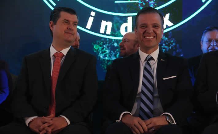 Rogelio Garza Garza, subsecretario de Industria y Comercio de la SE participó en la inauguración la 45 Convención Nacional de index en Chihuahua, en representación del Presidente Enrique Peña Nieto. (Foto: Index)