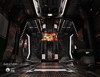 SS Marcoor Corridor 2 Iray