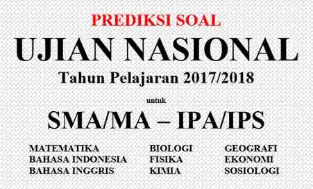 Contoh dan Prediksi Soal UNBK SMA/MA Tahun 2019