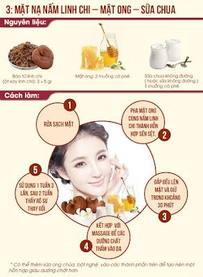 Cách đắp mặt nạ nấm linh chi và sữa chua- mật ong