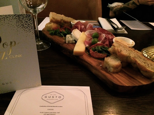 Meat and cheese platter at Gusto Restaurant