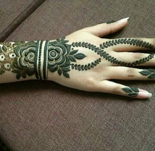 fancy stylish Arabic Henna Mehndi Designs 2016