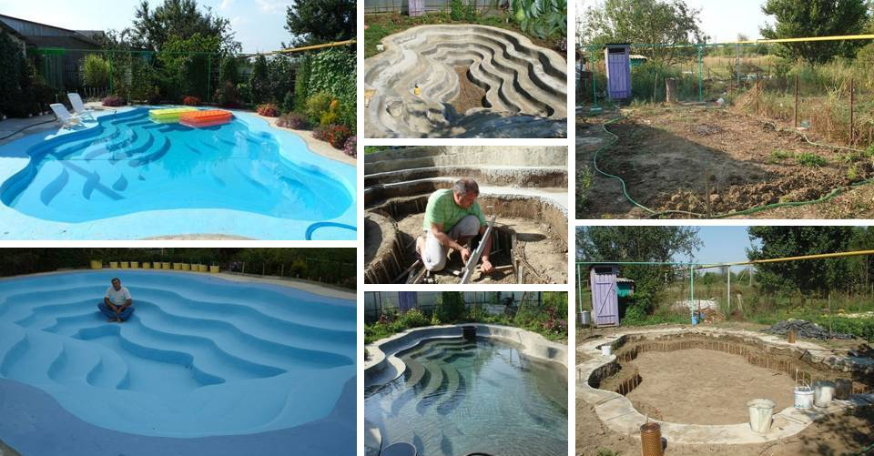 Start to Finish: He Build His Own Swimming Pool - Decor Units