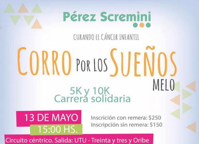 10k y 5k Corro por los sueños (Melo - Cerro largo, 13/may/2017)
