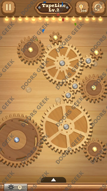 Fix it: Gear Puzzle [TapeLine] Level 2 Solution, Cheats, Walkthrough for Android, iPhone, iPad and iPod