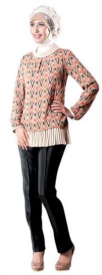 Contoh Model Baju Batik Muslim untuk Remaja Terbaru 2015