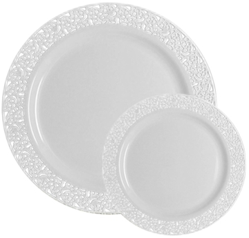 Amazon has got this Table To Go u0027I Canu0027t Believe Its Plasticu0027 50-count Ivory Lace Plate Set for $15.37 with free Prime/SuperSaver shipping.  sc 1 st  Daily Cheapskate & Daily Cheapskate: