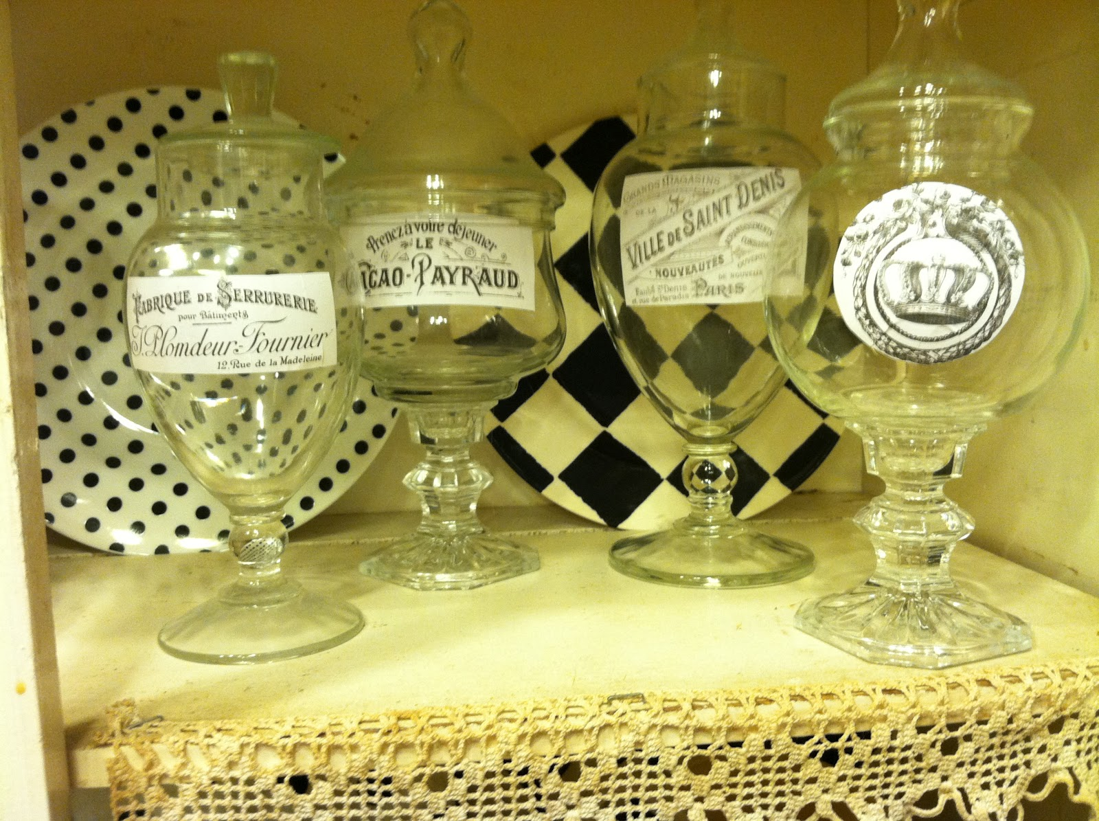Pollyanna Reinvents French Apothecary Jars On The Cheap
