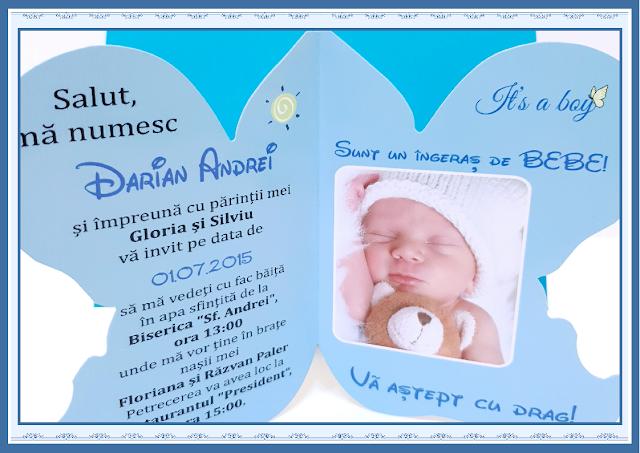 invitatii botez Ingeras
