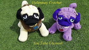 Free Crochet Pug Rug Pattern : Crochet Pug Amigurumi Dog Free Amigurumi Patterns ...