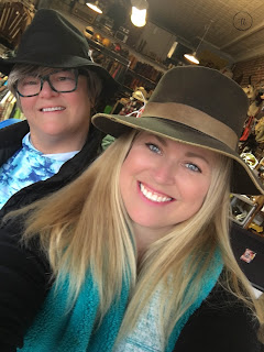 Mama and I always try on silly hats or glasses anytime we antique or consignment shop!