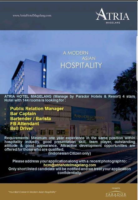 hotelandjobs, hotel vacancy, lowongan kerja hotel