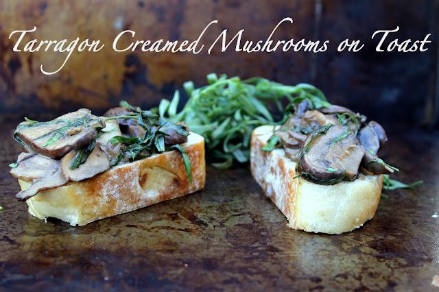 Vegan4One's Tarragon Creamed Mushrooms on Toast