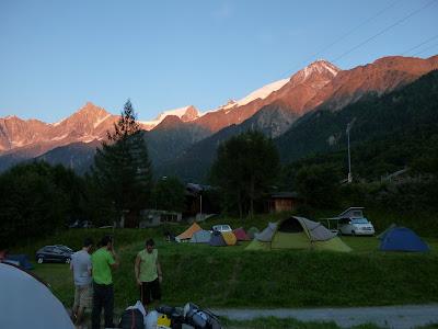 Camping Bellevue, Les Houches, Tour del Mont Blanc