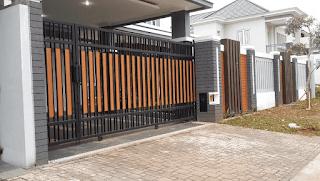 pagar rumah kombinasi tembok dan besi, model pagar tembok rumah kecil,