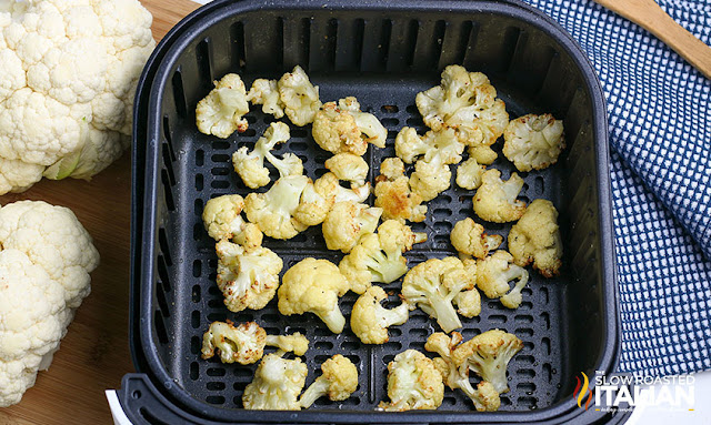cauliflower in the air fryer finished