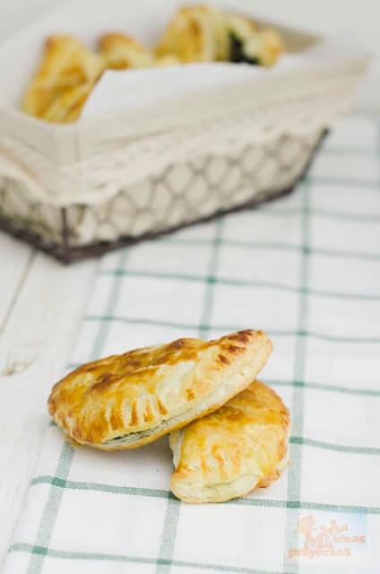 receta de empanadillas de hojaldre con espinacas2