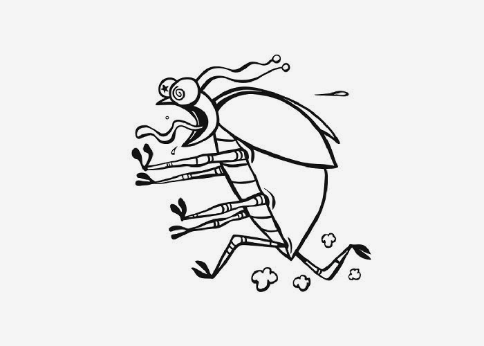 funny fly insects coloring pages - photo#11