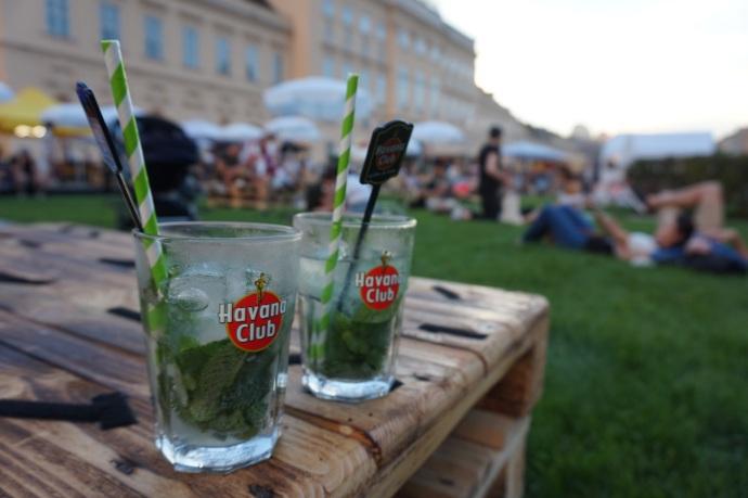 Wien Museum Quartier, museokortteleiden ruokafestarit / food festival