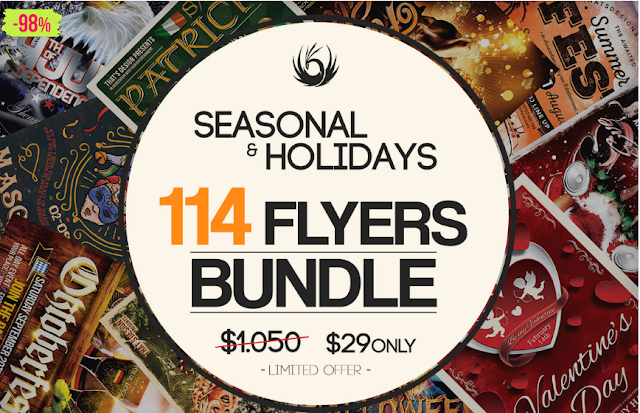 seasonal flyer template bundle