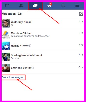 how to delete messages on facebook messenger mobile