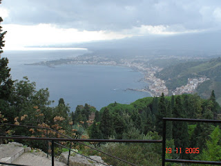 Photo of the coastline of Sicily from Taormina