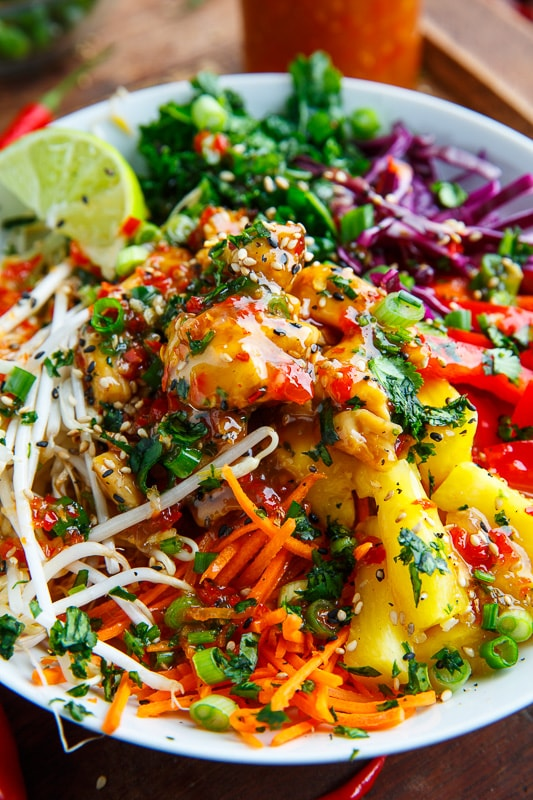 Thai Sweet Chili Chicken Buddha Bowls