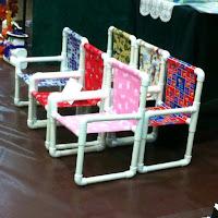 Ideas con tubos de PVC - sillas para niños