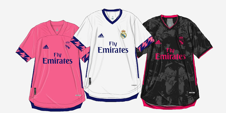 Estados Unidos super calidad novísimo selección Adidas Real Madrid 2020-21 Home, Away & Third Kits Predictions ...