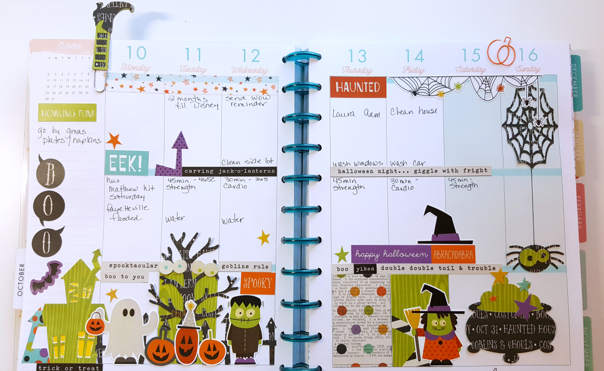 Happy Planner Weekly Layout 10/10-1016