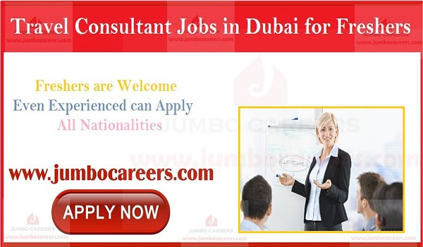 Dubai jobs for freshers and experienced candidates, Show the details of travel and tourism jobs in Dubai,