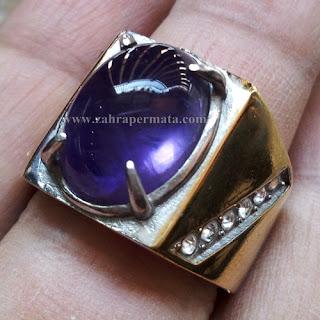 Cincin Batu Kecubung Ungu - ZP 675