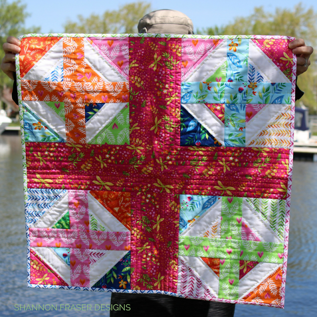 Rainbow Plus Mini | Plus Infinity Mini Quilt Pattern | Quick & Easy Weekend Project | Shannon Fraser Designs | Modern Quilt Pattern | DIY | Quilted Wall Hanging | Baby Quilt
