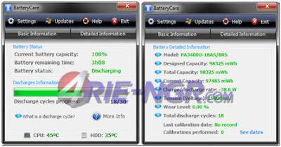 BatteryCare 0.9.27 Terbaru Gratis