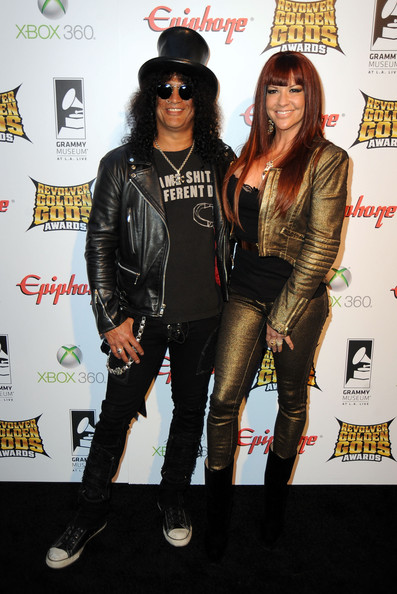 Slash was wearing SAME SHIT DIFFERENT DJ t-shirt when he attended the 2012 Revolver Golden Gods Awards. PYGear.com