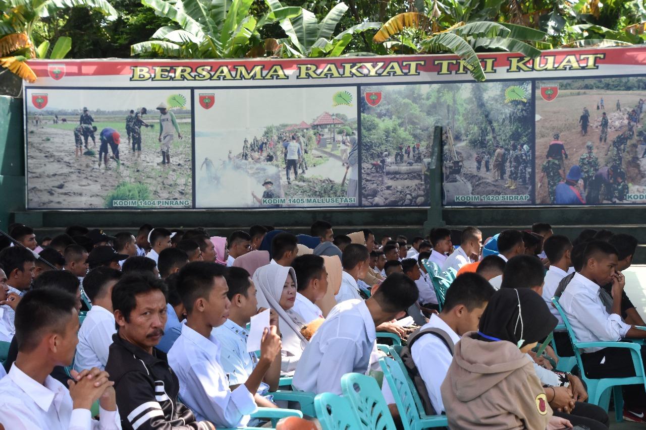 Tatap Muka Orang Tua/Wali Peserta Seleksi Cata PK TNI AD, Ini Pesan Kasrem 141/Tp