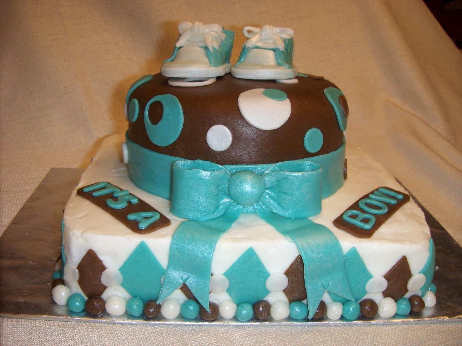Baby Shower Cake Boy Mustang