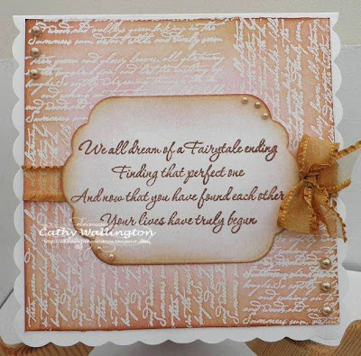 visible image stamps fairytale ending verse wedding stamp bronte border script stamp