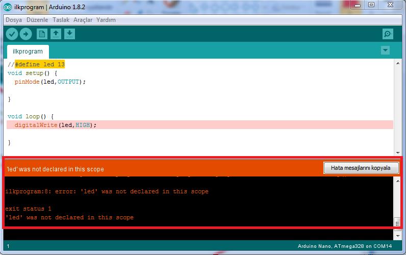 Arduino ve İlk programimiz quot led gÖzÜnÜ aÇti