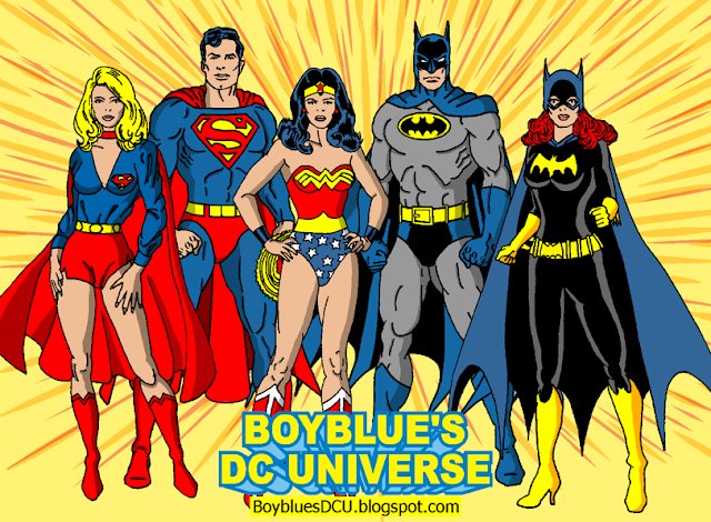 Superman, Batman, Wonder Woman, Batgirl, Supergirl
