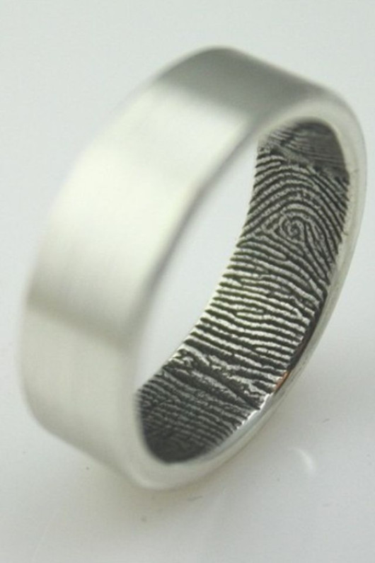unique ideas for wedding ring finger print