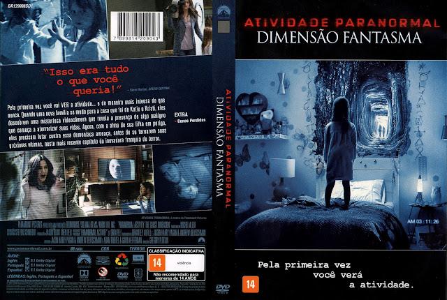 Capa DVD Atividade Paranormal A Dimensão Fantasma