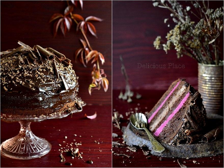 Tort czekoladowo-buraczany